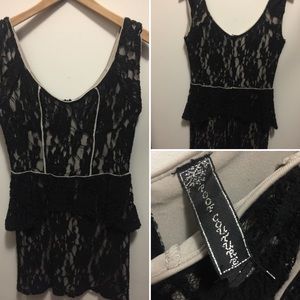 ❗SALE❗Black/Tan lace dress